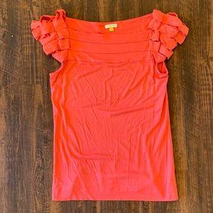 Anthropologie | Pink Ruffle Sleeve Dress Top 💗✨
